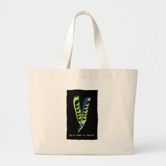 give peas a chance - black tote bag