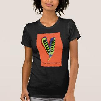 give peas a chance-orange t-shirt