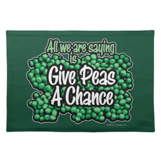 Give Peas A Chance Placemat