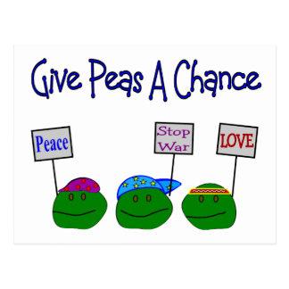 Give PEAS a chance Postcard
