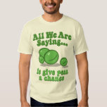 Give peas a chance. tees