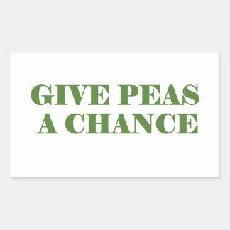 Give peas peace a chance sticker