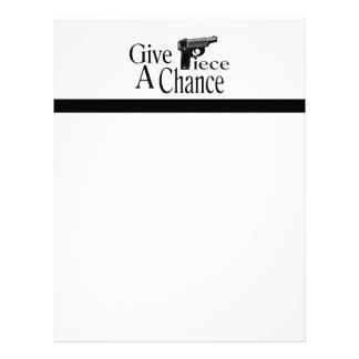 Give Piece A Chance Letterhead
