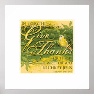 "Give Thanks 24""x 24"" Print"