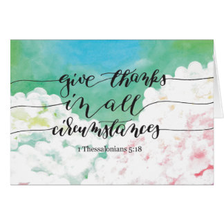 Give Thanks All Circumstances 2 Card