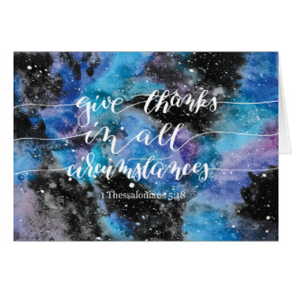 Give Thanks All Circumstances 3 Greeting Card