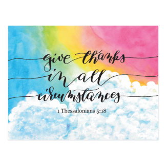 Give Thanks All Circumstances Postcard