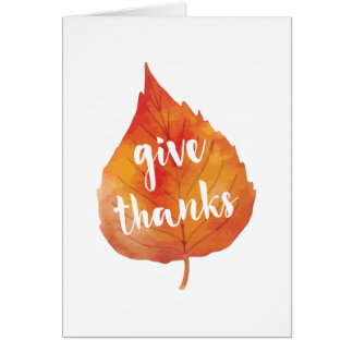 Give Thanks | Autumn Leaves Thanksgiving Card