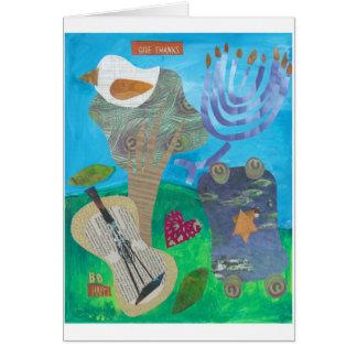 Give Thanks, Be Happy, Hanukkah Card