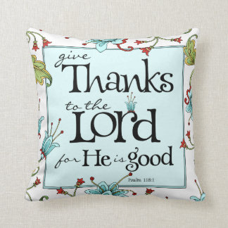 Give Thanks - Bella Flora Throw Pillow