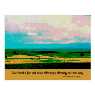 give thanks blessing postcard