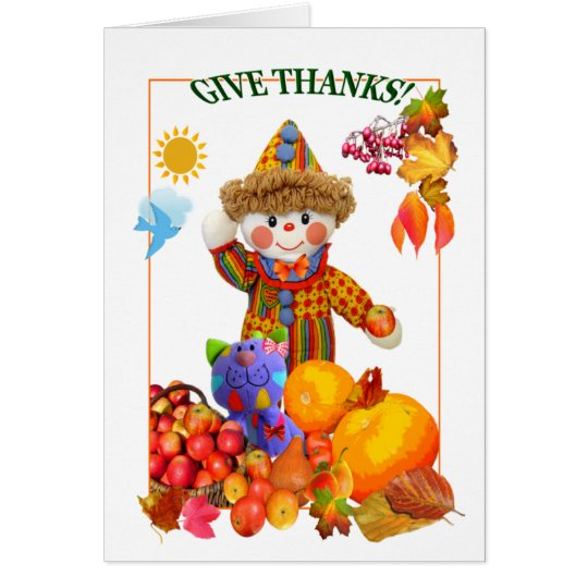 GIVE THANKS! ~ Card 4 Kids