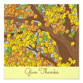 Give Thanks Colorful Tree Card