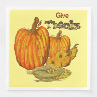 Give Thanks Disposable Napkin