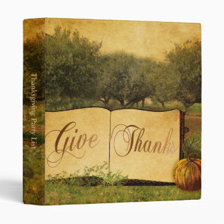 Give Thanks for Thanksgiving 3 Ring Binder