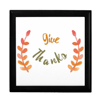Give thanks illustration gift box