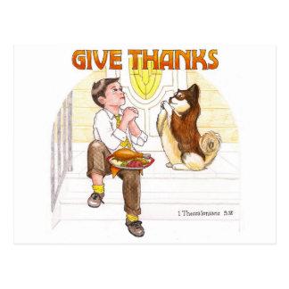 Give Thanks Inspirational Postcard