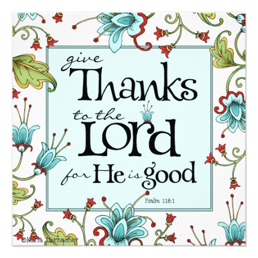 Give Thanks - Invitation or Flat Card