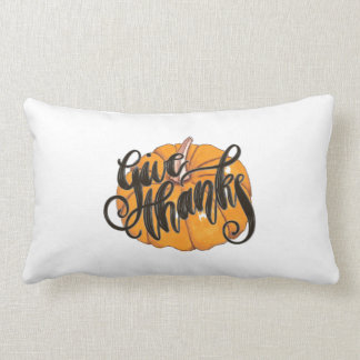 Give Thanks Lumbar Pillow