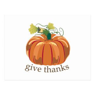 Give Thanks Postcard