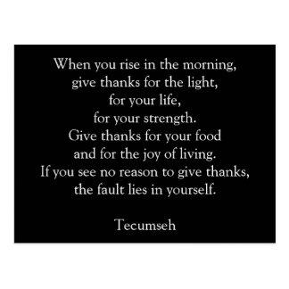 Give Thanks - Postcard