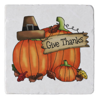 Give Thanks Pumpkin Trivet
