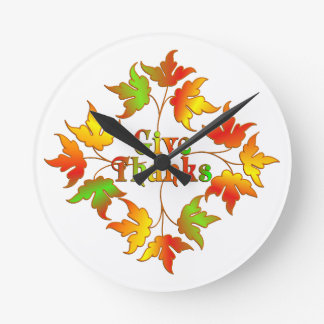 Give Thanks Round Clock
