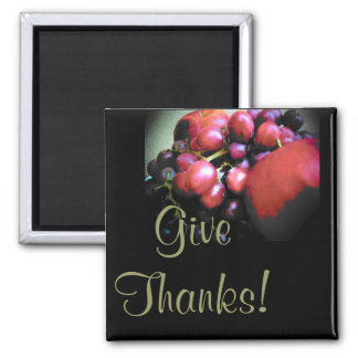 Give Thanks Square Magnet
