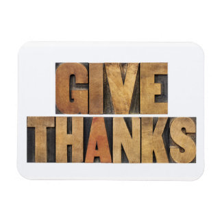 Give Thanks - Thanksgiving Concept - Isolated Magnet