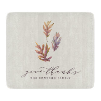 Give Thanks Thanksgiving cutting board gift