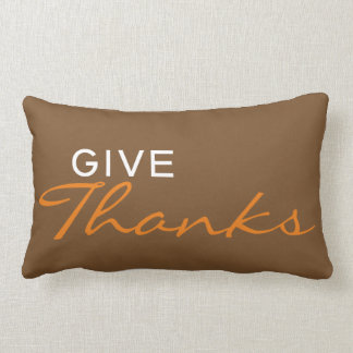 """Give Thanks"" Thanksgiving/Fall Throw Pillow"