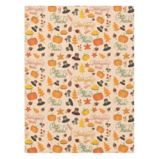 Give Thanks Thanksgiving Pattern Tablecloth