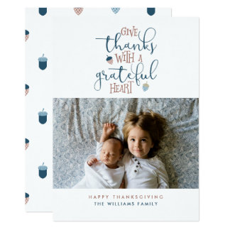 Give Thanks Thanksgiving Photo Card