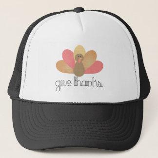 give thanks thanksgiving turkey trucker hat