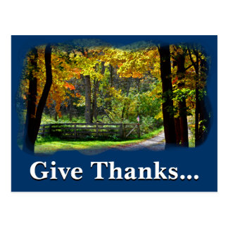 Give thanks unto the Lord 1 Chronicles 16 8 Postcard