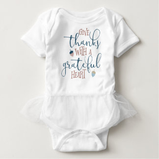 Give Thanks With a Grateful Heart Baby Bodysuit