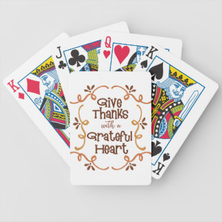 Give thanks with a grateful heart bicycle playing cards