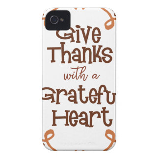 Give thanks with a grateful heart iPhone 4 cover