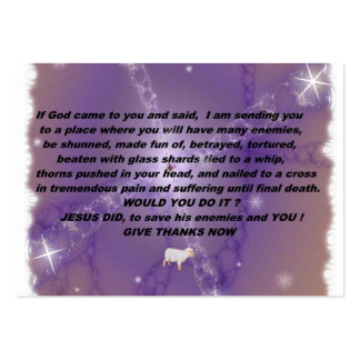 Give Thanks Witness Card Large Business Card