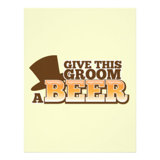 Give this Groom a BEER NP Letterhead Template