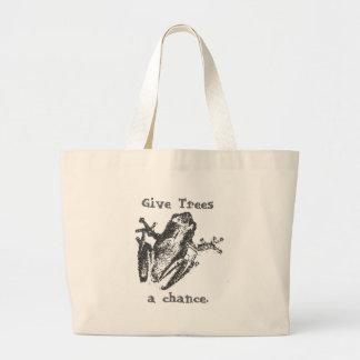 Give Trees a chance. Jumbo Tote Bag