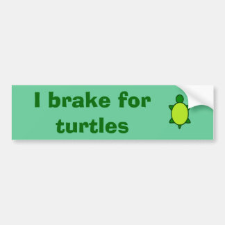 Give turtles a brake! bumper sticker