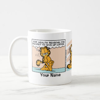 """""""Give Up Coffee"""" Garfield Comic Strip Classic White Coffee Mug"""