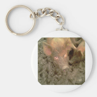 Give us a kiss basic round button keychain