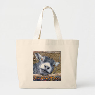 Give Us a Kiss! Large Tote Bag