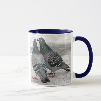 Give Us A Kiss Pigeon Gift Mug