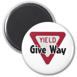 GIve Way Magnet
