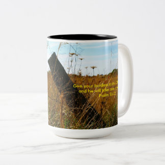 Give your burdens to the Lord photo mug