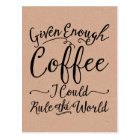 Given Enough Coffee Postcards