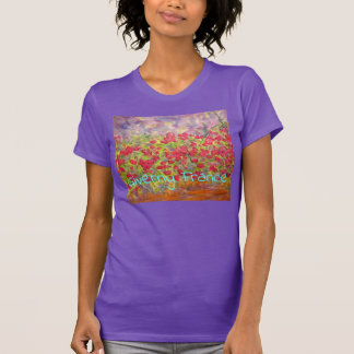 Giverny France Roses T-Shirt